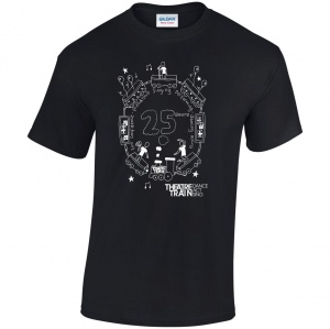 25yr Anniversary Black Adult's T-Shirt