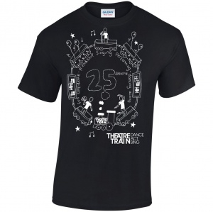 25th Anniversary Black Children's T Shirt